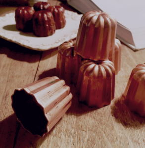 before first use - traditionnal canele copper tinned mold